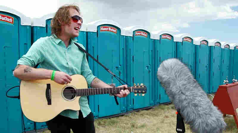 "Deer Tick performs ""Main Street"" at the Sasquatch bathrooms."