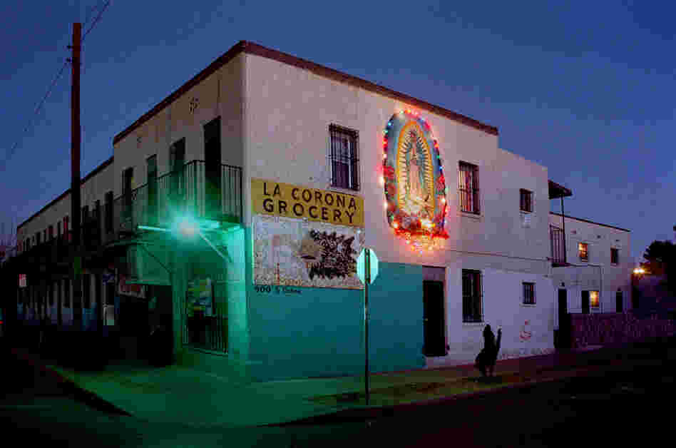 Segundo Barrio, El Paso, Texas, 2005. Many stores have come and gone in this building through the years. The residents of the Segundo Barrio community have maintained it on their own initiative, for decades, as far back as anyone can remember.