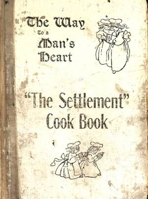 The Settlement Cook Book: Containing Many Recipes Used In Settlement Cooking Classes, The Milwaukee Public School Cooking Centers and Gathered From Various Other Reliable Sources. This 1901 cookbook began as a fundraiser for the Jewish Settlement House in Milwaukee, Wisconsin. Through multiple printings over 75 years, this cookbook benefited many Milwaukee charities.