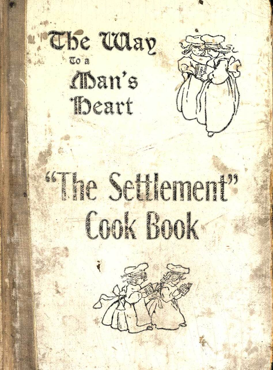 The Settlement Cook Book: Containing Many Recipes Used In Settlement Cooking Classes, The Milwaukee Public School Cooking Centers and Gathered From Various Other Reliable Sources. This 1901 cookbook began as a fundraiser for the Jewish Settlement House in Milwaukee, Wisconsin. Through multiple printings over 75 years, this cookbook benefited many Milwaukee charities. (Michigan State University Libraries)