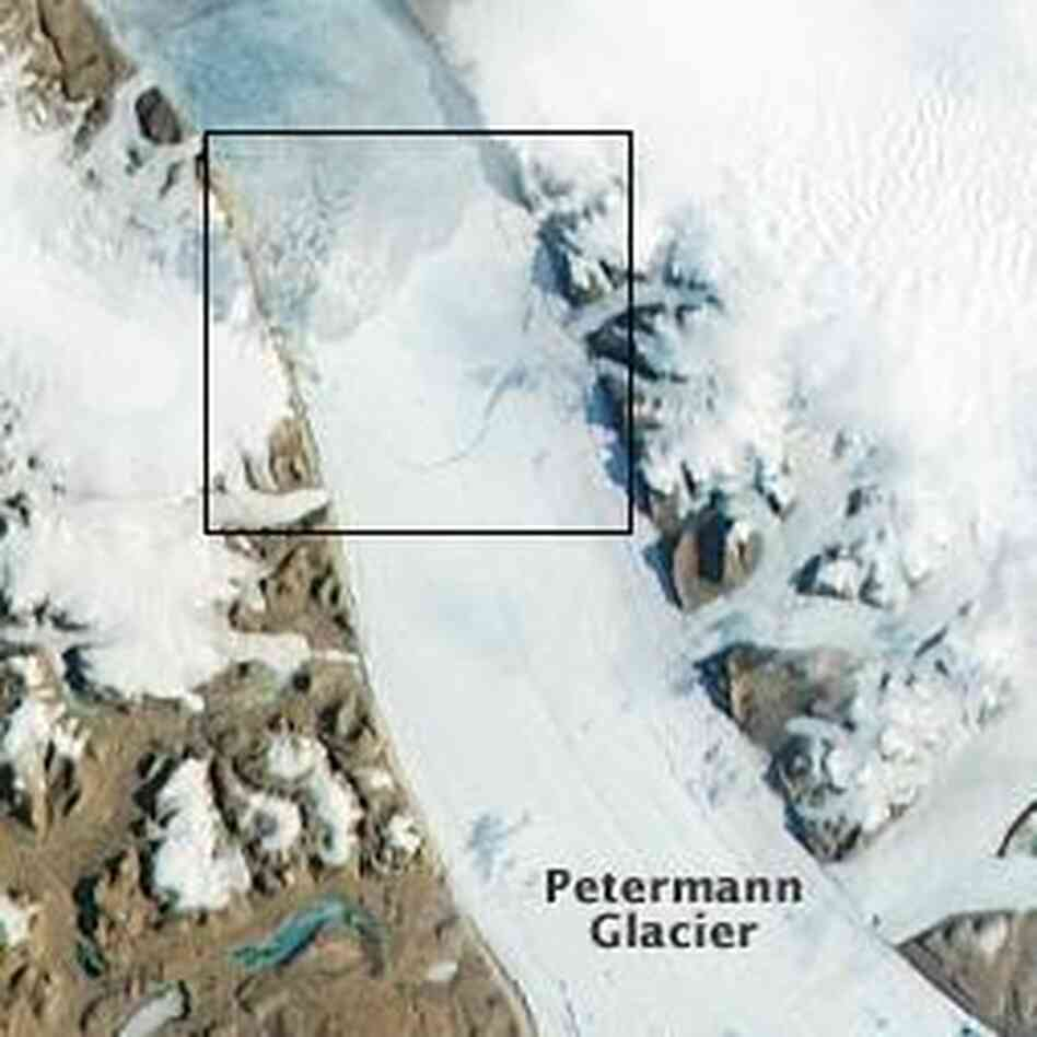 A view of the glacier ta