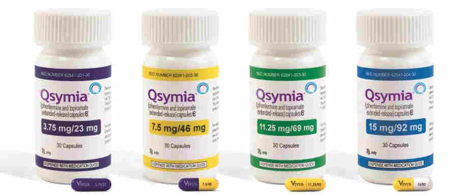 The range of Qsymia doses approved by the Food and Drug Administration Tuesday.