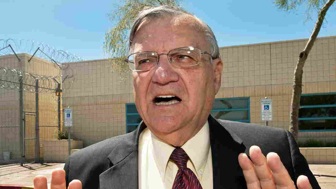 A trial begins Thursday in Phoenix accusing Maricopa County Sheriff Joe Arpaio, seen in this May 3, 2010, file photo, of violating the civil rights of Latino citizens and legal U.S. residents.