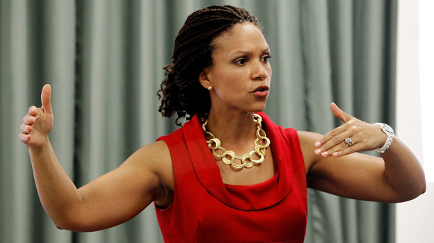 Melissa Harris-Perry, MSNBC's newest host, is a Tulane professor with a Ph.D. in political science from Duke. She hosts the two-hour Melissa Harris-Perry show, which airs on Saturday and Sunday mornings. (The Times-Picayune /Landov)
