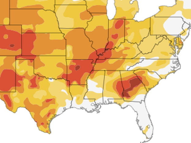 More than half the country is experiencing drought conditions, according to the U.S. Drought Monitor. (NPR/U.S. Drought Monitor)