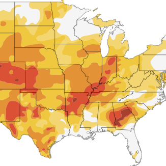 Interactive: Mapping The U.S. Drought