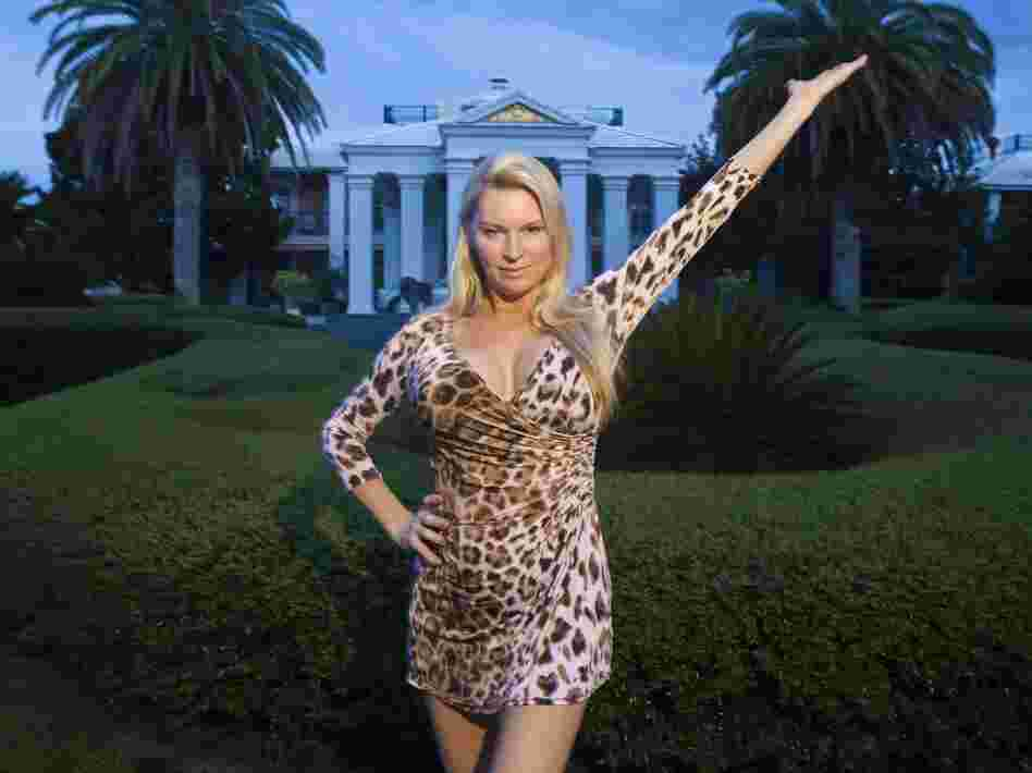 Jackie Siegel poses in The Queen of Versailles. She and her husband, David, were building the largest house in the U.S. before the recession soured their plans.