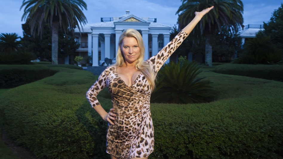 Jackie Siegel poses in The Queen of Versailles. She and her husband, David, were building the largest house in the U.S. before the recession soured their plans. (Magnolia Pictures)