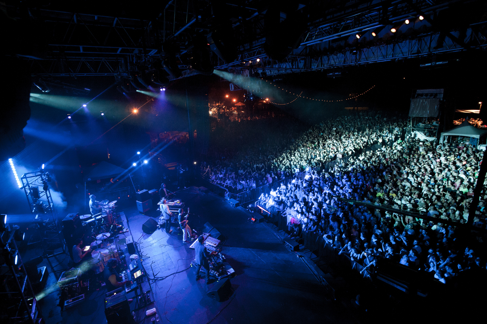 A nice shot of Hot Chip's stage setup and the maximum capacity crowd at Celebrate Brooklyn.