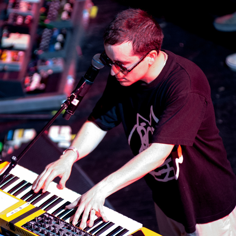 Alexis Taylor spent much of the night on his keyboard and MPC.