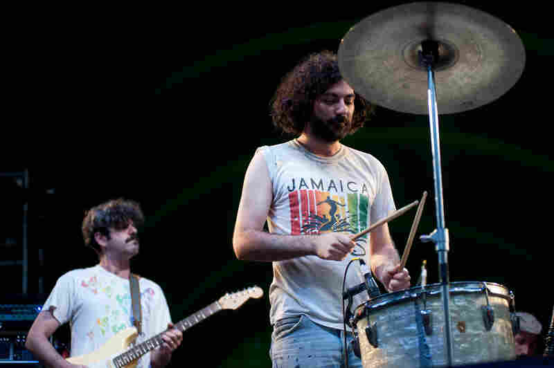 The band has a distinctive sound, mixing electronics, percussion and vocals.