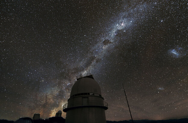 The Milky Way above the La Silla Observatory in Chile.