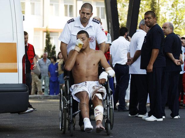 An Israeli survivor is carrie