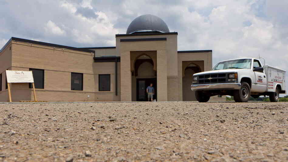 The mosque in Murfreesboro, Tenn., last month when it was still under con