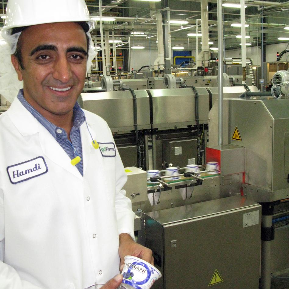 Hamdi Ulukaya, founder of the yogurt company Chobani, says making Greek yogurt using thickening agents is cheating. (NPR)