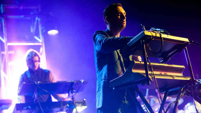 Hot Chip performing at Celebrate Brooklyn.
