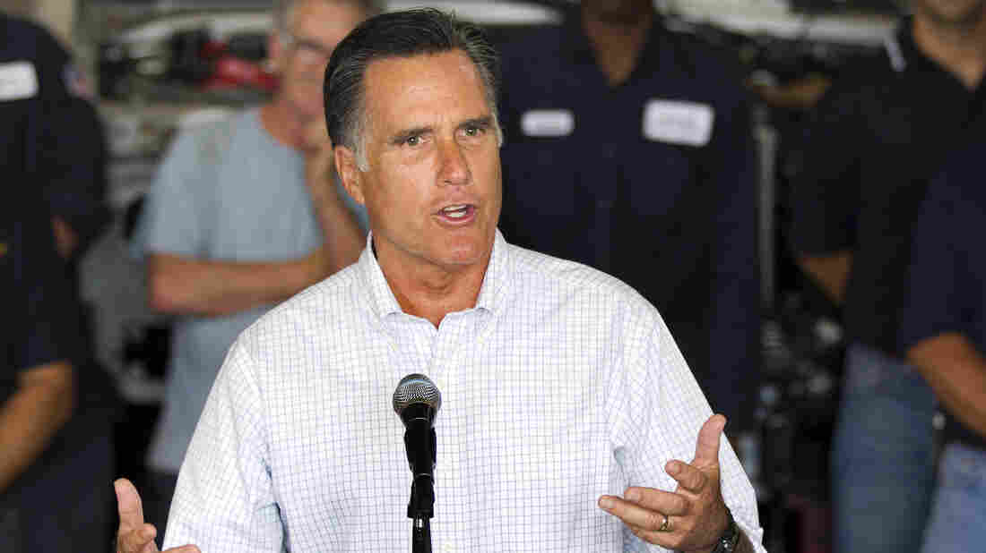 Mitt Romney speaks at a campaign stop in Roxbury, Mass., on Thursday.