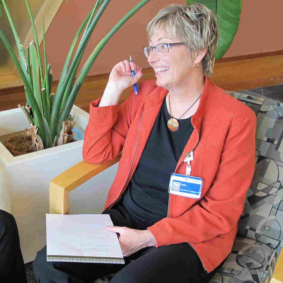 Shannon Orley, left, meets with her health coach, Kelly Heithold, right, at Providence Alaska Medical Center.