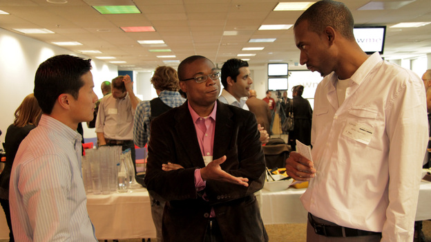 As part of the New Media Entrepreneurship camp, participants paid a visit to Google. (KQED)