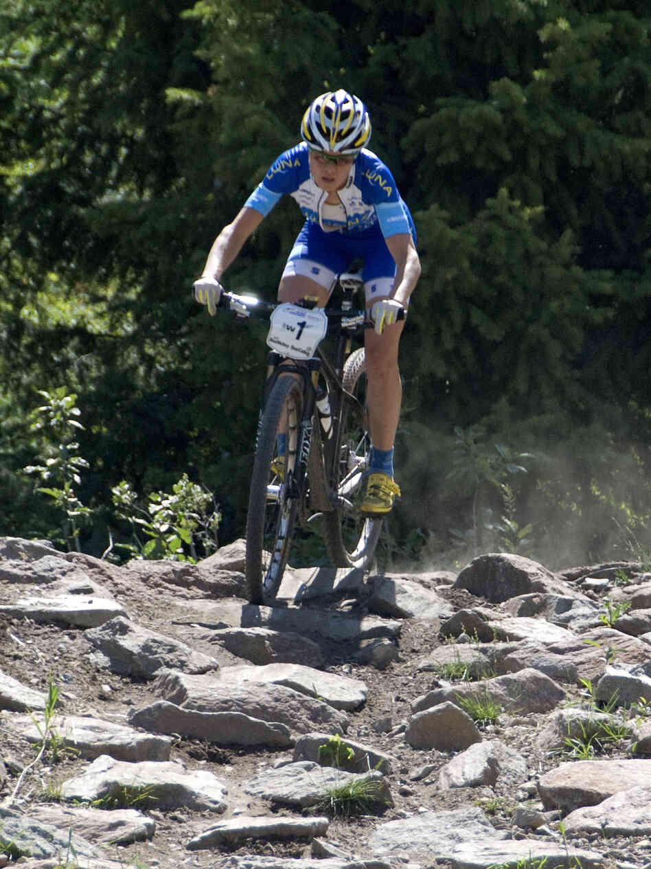 Georgia Gould won her fourth U.S. mountain bike cross-country championship earlier this month. She hopes to win a medal in London this summer.
