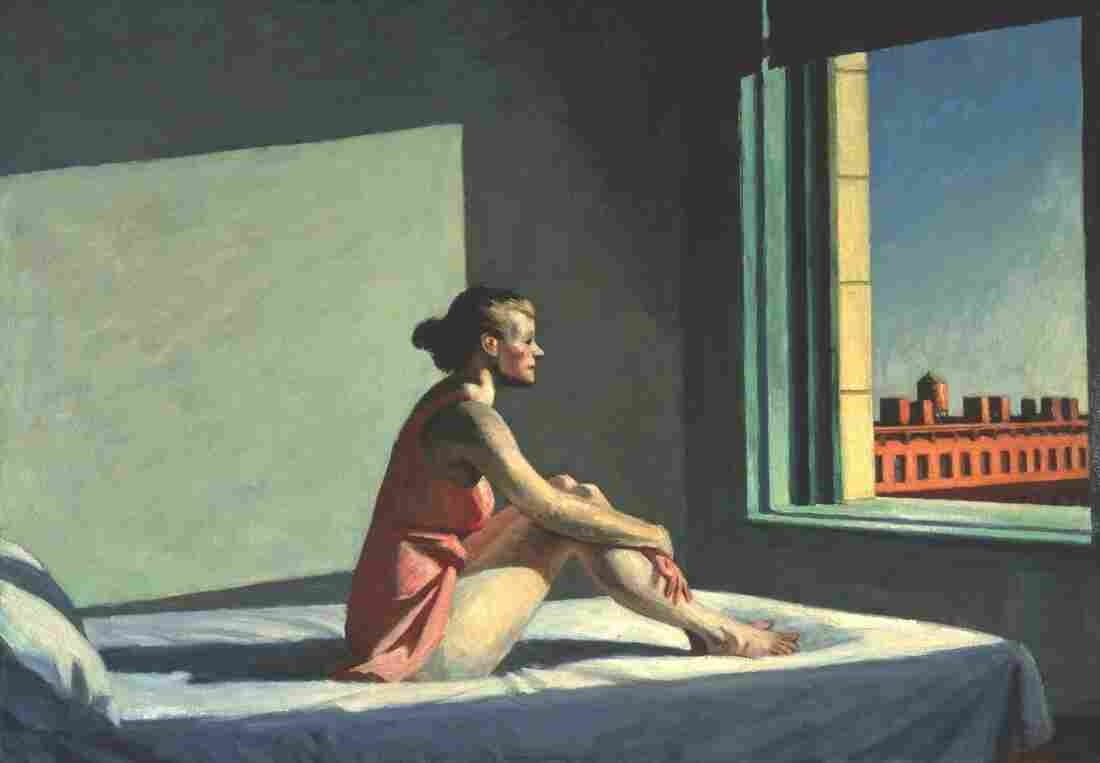 Edward Hopper's wife, Josephine N. Hopper, served as his model for 1952's Morning Sun.