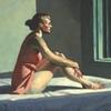 Edward Hopper's wife, Josephine N. Hopper, served as his model for 1952's Morning Sun.