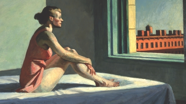 Edward Hopper's wife, Josephine N. Hopper, served as his model for 1952's Morning Sun.  (Columbus Museum of Art/Howald Fund)
