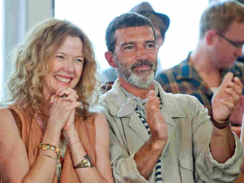 Gertrude (Annette Bening) and Mort (Antonio Banderas) are Calvin's hippie parents, who win Ruby over despite Calvin finding them irritating.