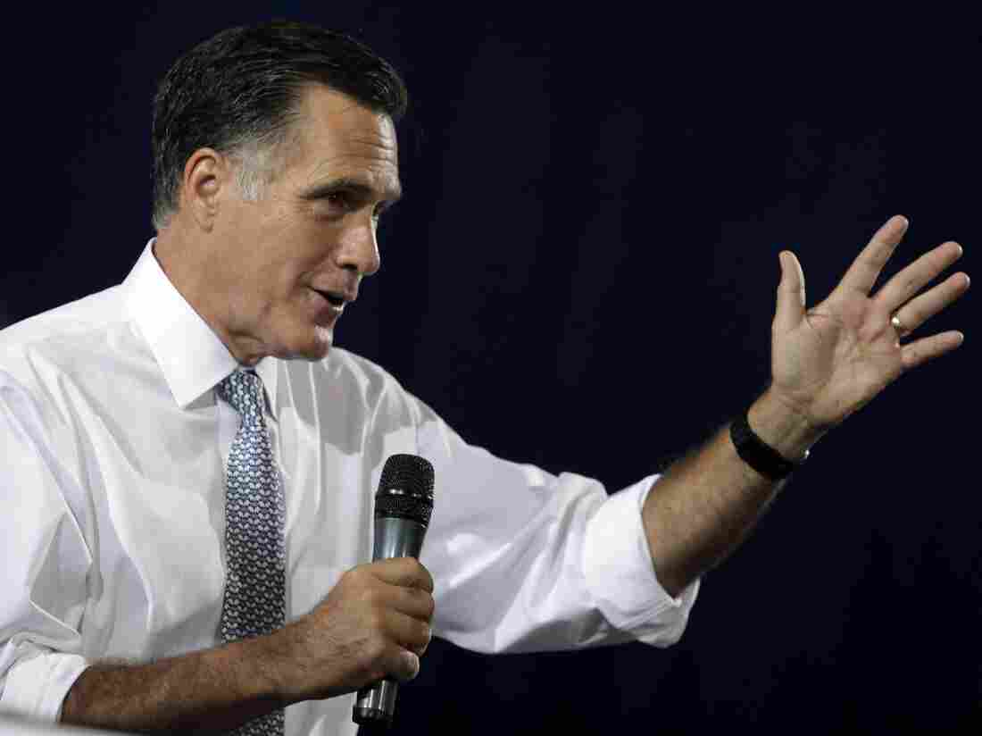Republican presidential candidate Mitt Romney speaks at a campaign rally in Bowling Green, Ohio, on Wednesday.