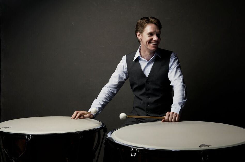 To audition for the BSO, percussionist Mike Tetreault was required to prepare musical excerpts from 50 pieces on nine different instruments, including timpani.