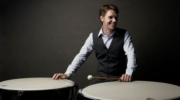 To audition for the BSO, percussionist Mike Tetreault was required to prepare musical excerpts from 50 pieces on nine different instruments, including timpani. (Mike Tetreault)
