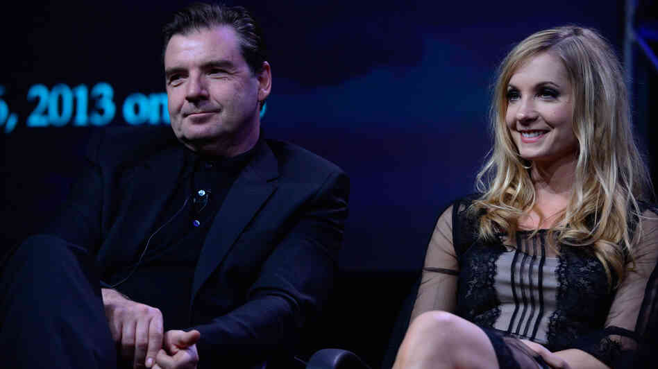 Brendan Coyle and Joanne Froggatt, who play Mr. Bates and Anna on Downton Abbey.