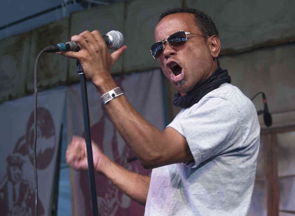 John Boutte performs at the 2008 Voodoo Music Experience festival, held in New Orleans City Park.