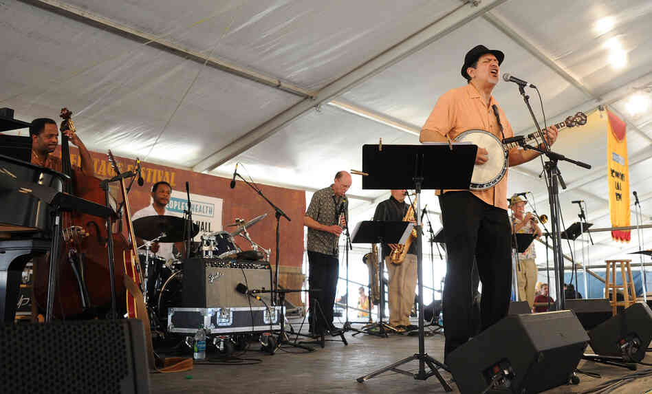 Musician Don Vappie & the Creole Serenaders perform during the 2011 New Orleans Jazz & Heritage Festival.