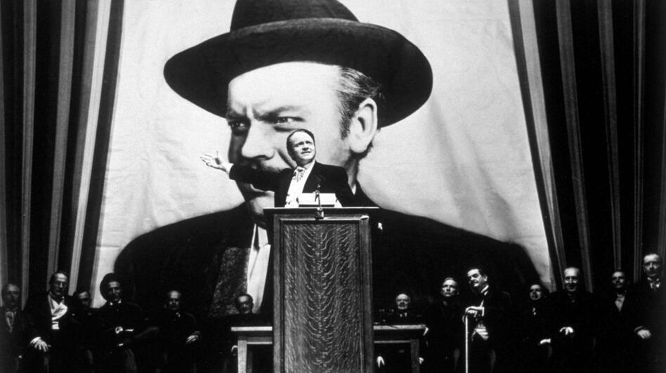 Citizen Kane was Orson Welles' first film and consistently tops lists as the best film of all time. (Getty Images)