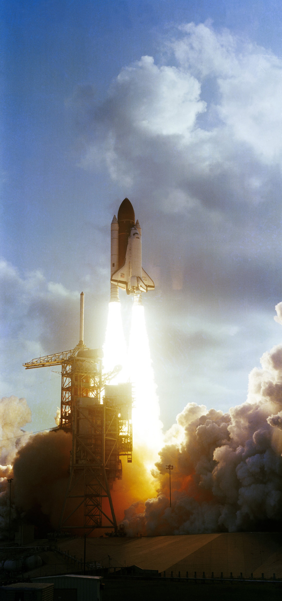 "Ride and her crewmates rocketed into space aboard Challenger at 7:33 a.m. Eastern Time on June 18, 1983. Ride later described the launch as ""exhilarating, terrifying and overwhelming all at the same time."" (NASA)"