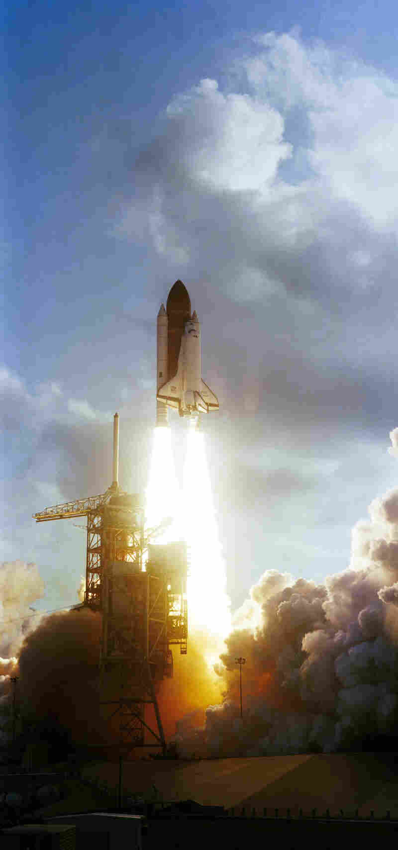 """Ride and her crewmates rocketed into space aboard Challenger at 7:33 a.m. Eastern Time on June 18, 1983. Ride later described the launch as """"exhilarating, terrifying and overwhelming all at the same time."""""""