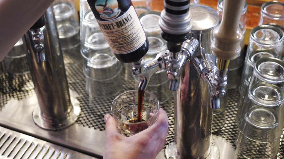 D.C. bar, The Passenger serves Fernet Branca on tap. (NPR)