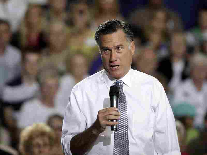 Republican presidential candidate Mitt Romney speaks at a campaign rally at the Bowling Green Community Center July 18 in Bowling Green, Ohio.