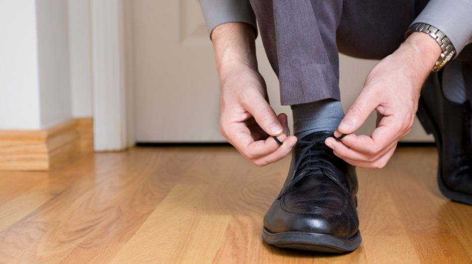 Can You Help Me Tie My Shoe? Researchers found that when study participants were asked an unusual request, they were more likely later on to perform a favor. (iStockphoto.com)