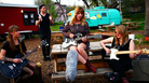 "Bleached performs ""Electric Chair"" for a Field Recording at the 12th Street Soular Food Garden in Austin, Texas, during SXSW 2012."