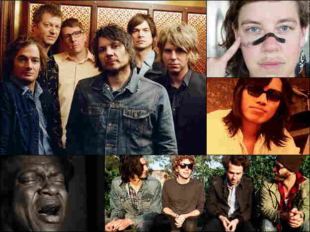 Wilco (clockwise from upper left), tUnE-yArDs, Rodriguez, Dawes and Charles Bradley