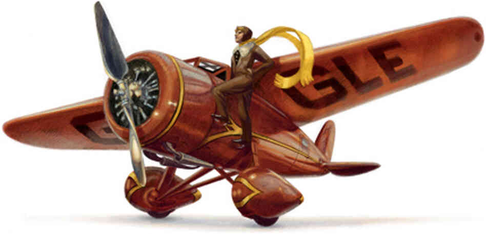 Google honors Amelia Earhart today, on her 115th birthday.