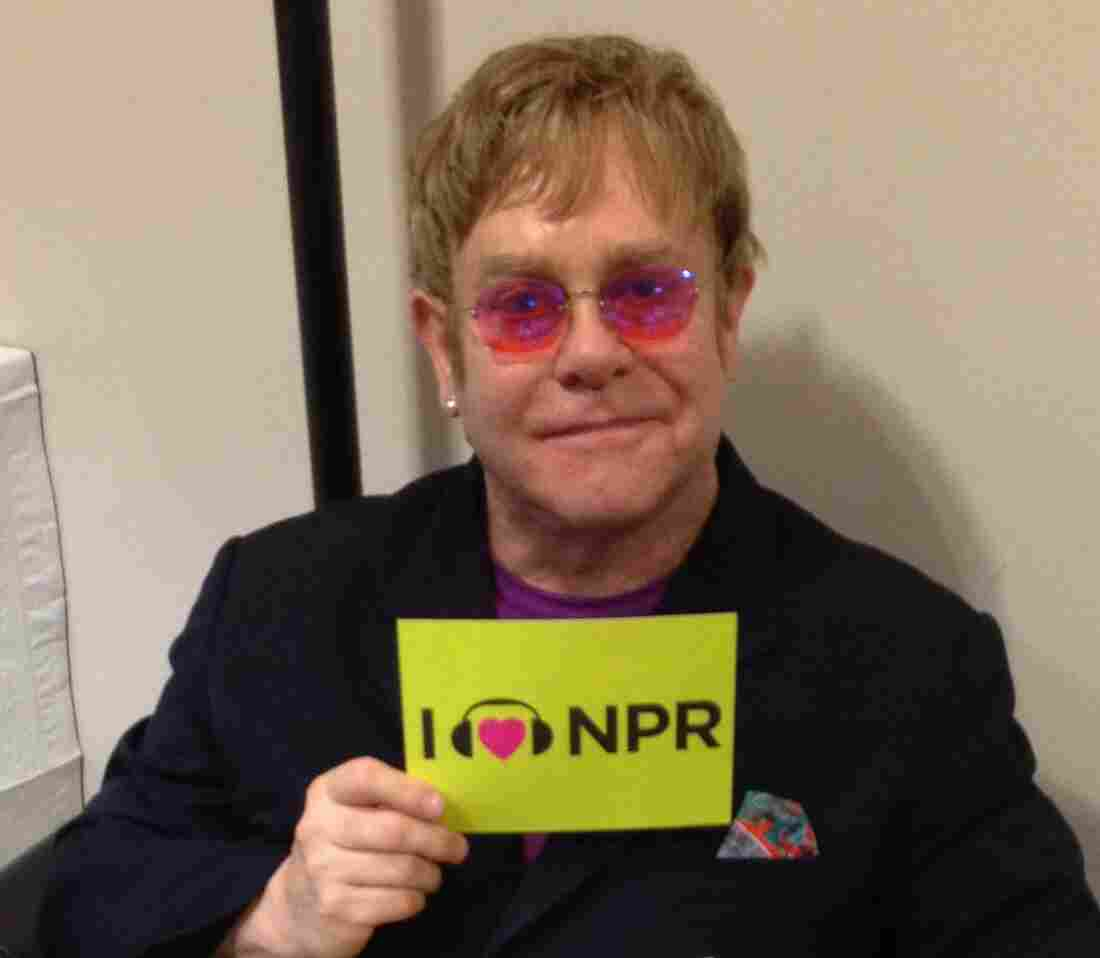 Elton John at NPR HQ in DC