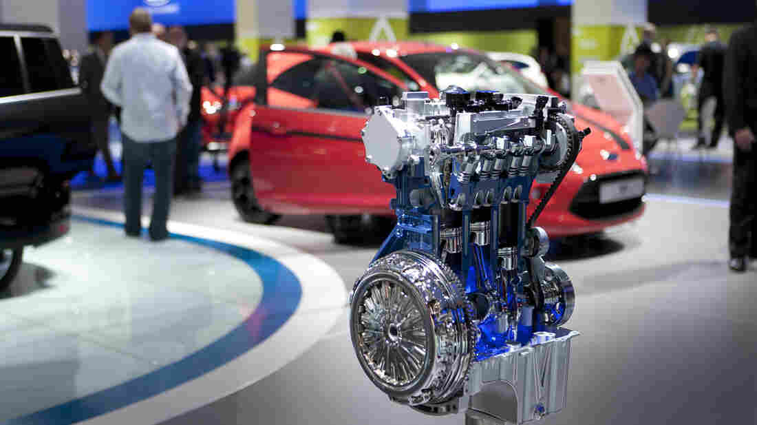 The 2011 Frankfurt Motor Show in Germany featured Ford Motor Co.'s new three-cylinder EcoBoost engine, which will hit the U.S. market next year.