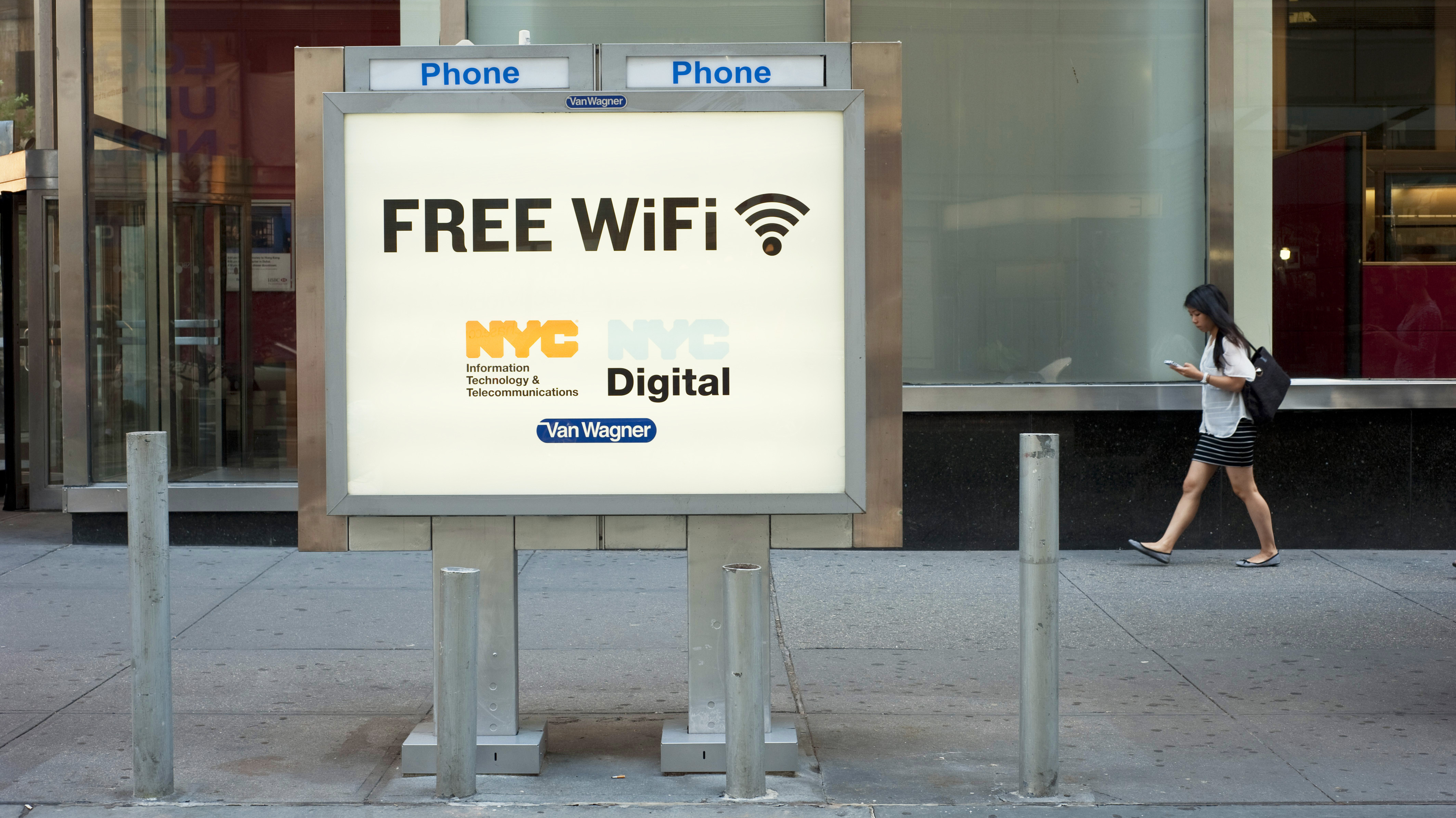 Google May Win The Contract To Turn NYC Pay Phones Into Free WiFi - Free wifi near me map