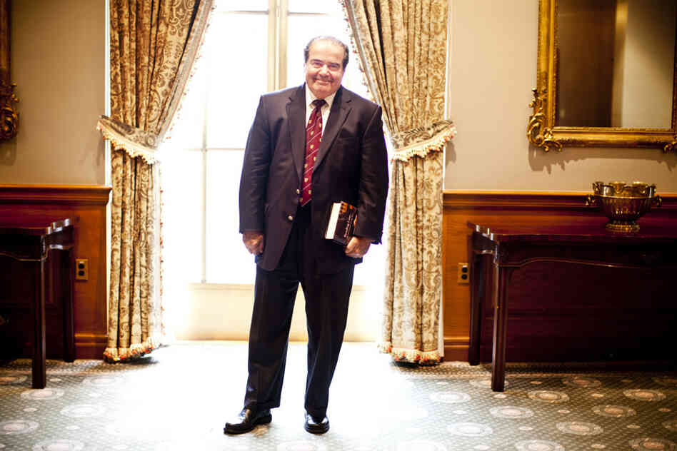 Supreme Court Justice Antonin Scalia spoke with NPR on Tuesday at the Supreme Court in Washington, D.C.