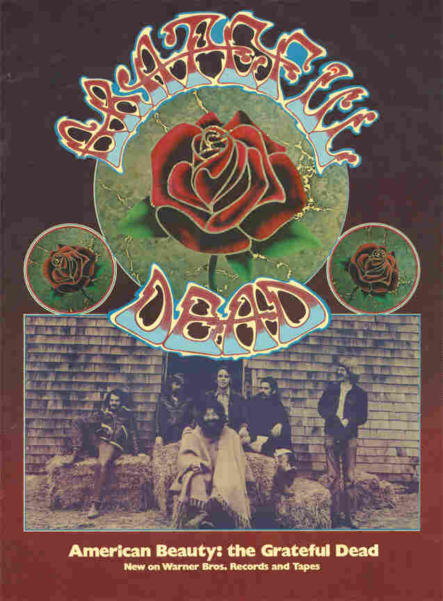 A promotional poster for The Grateful Dead's 1970 album American Beauty.