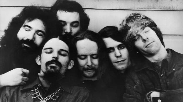 The Grateful Dead circa 1970. The band's members were quintessential rock hippies — but, a new exhibit reveals, savvy businessmen as well. (Redferns)