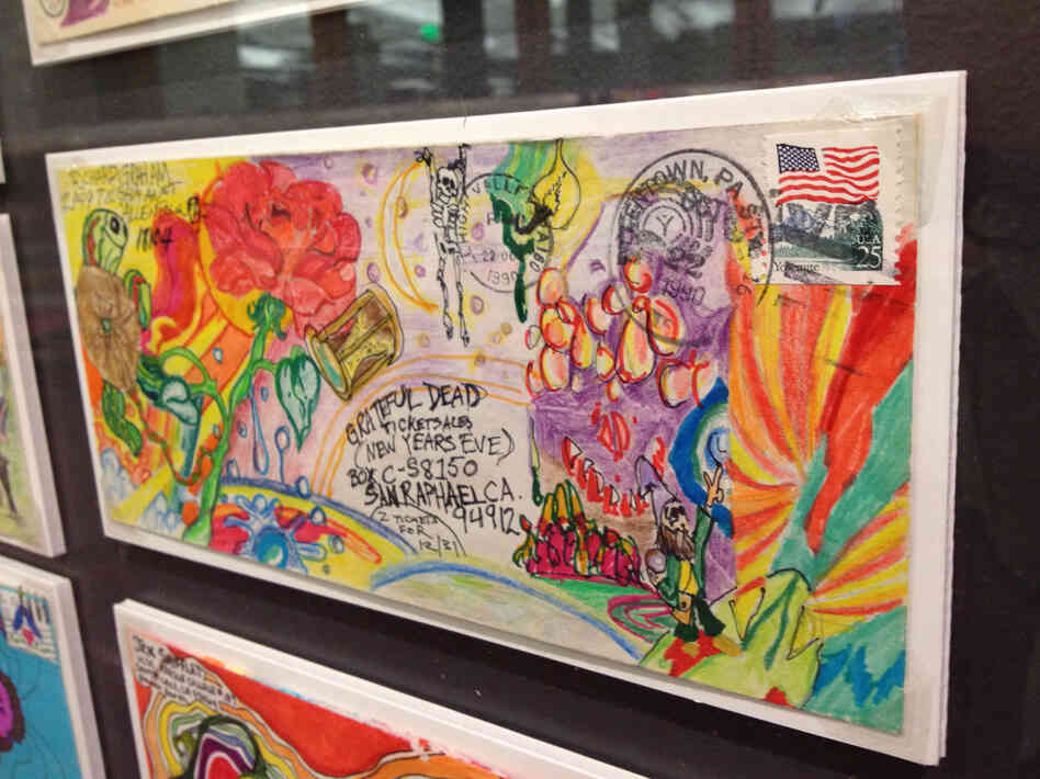 One of many pieces of elaborately decorated fan mail in the Grateful Dead Archive at Santa Cruz.
